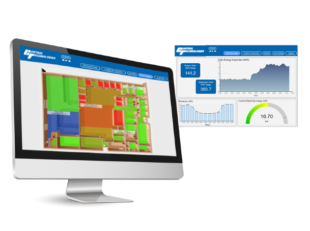 Control technologies offers powerful Energy Dashboard displays to monitor facility energy usage and savings.