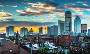 Boston Skyline. Control Technologies provides building solutions and services for a variety of building types.